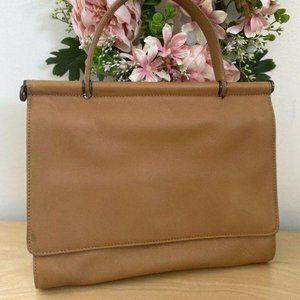 Coach Classic Purse Handbag Camel Tan Leather Bag